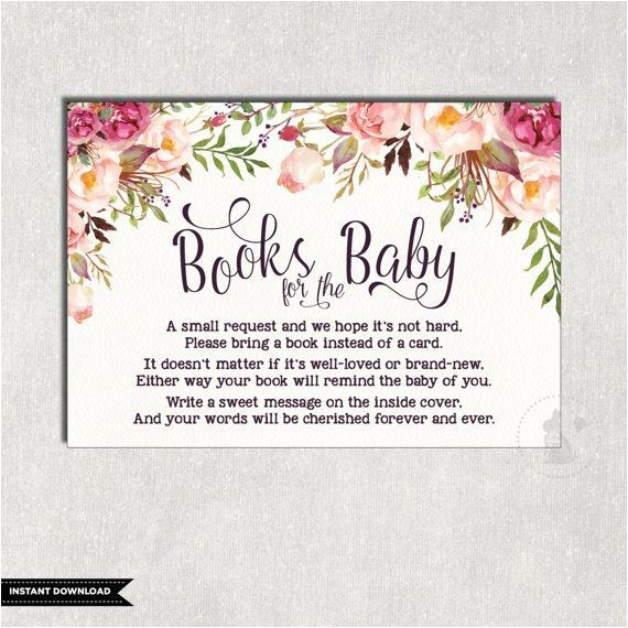 baby shower invitation wording book instead of card