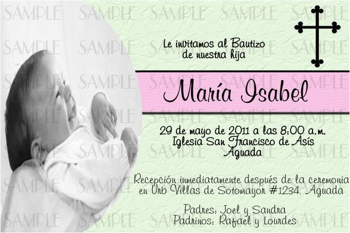 Wording for Baptism Invitations In Spanish Baptism Invitations In Spanish
