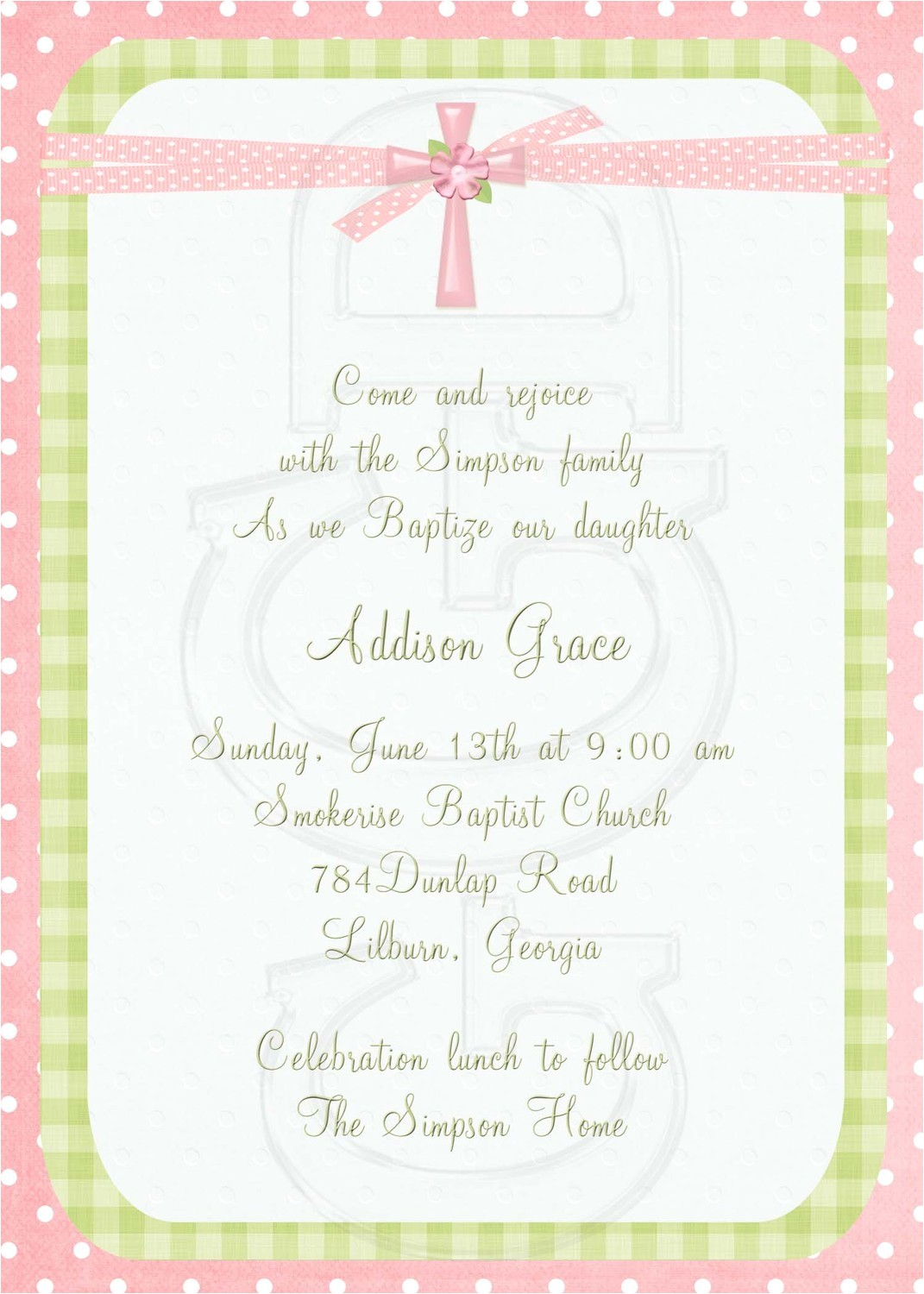 spanish baptism invitation wording