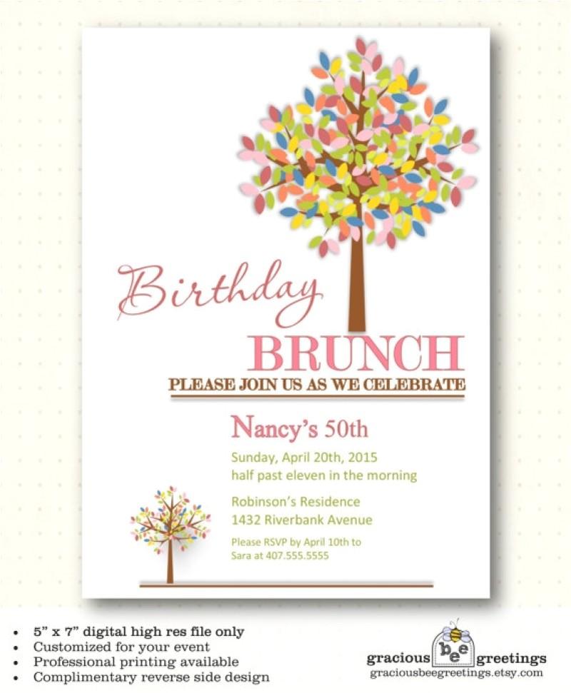 Wording for Birthday Brunch Invitations Birthday Brunch Invitations