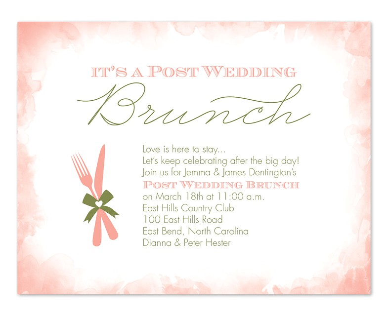 Post Wedding Brunch