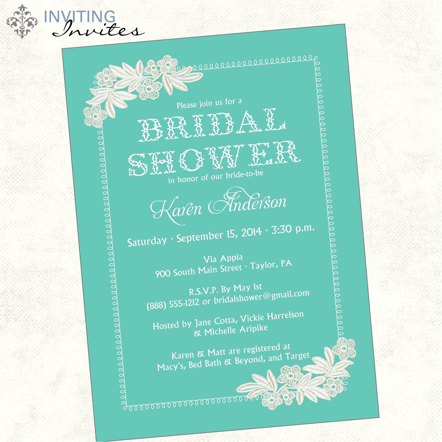 bridal shower invitation wording monetary ts