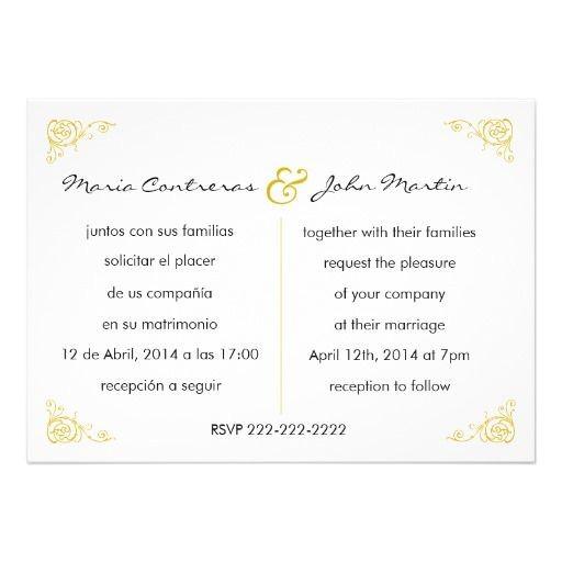 wedding invitation wording in spanish