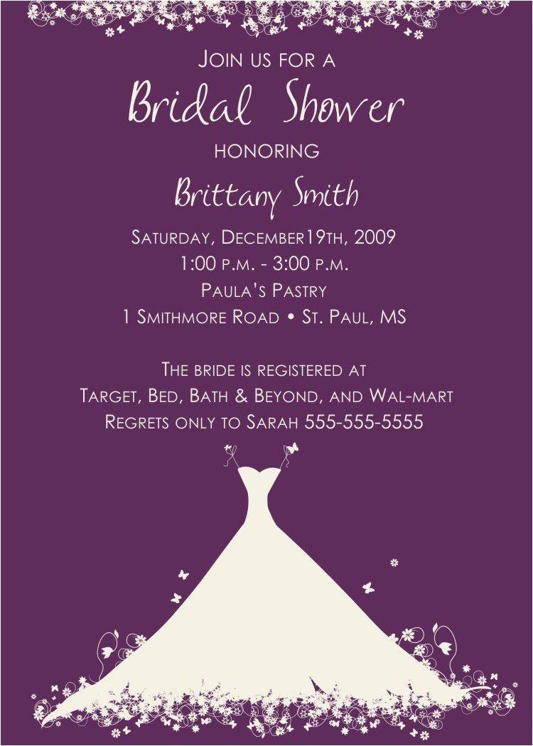bridal shower invitation wording for money