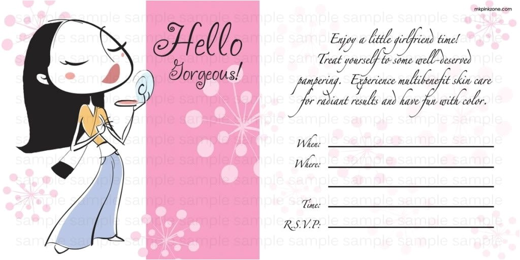 invitation wording for mary kay party