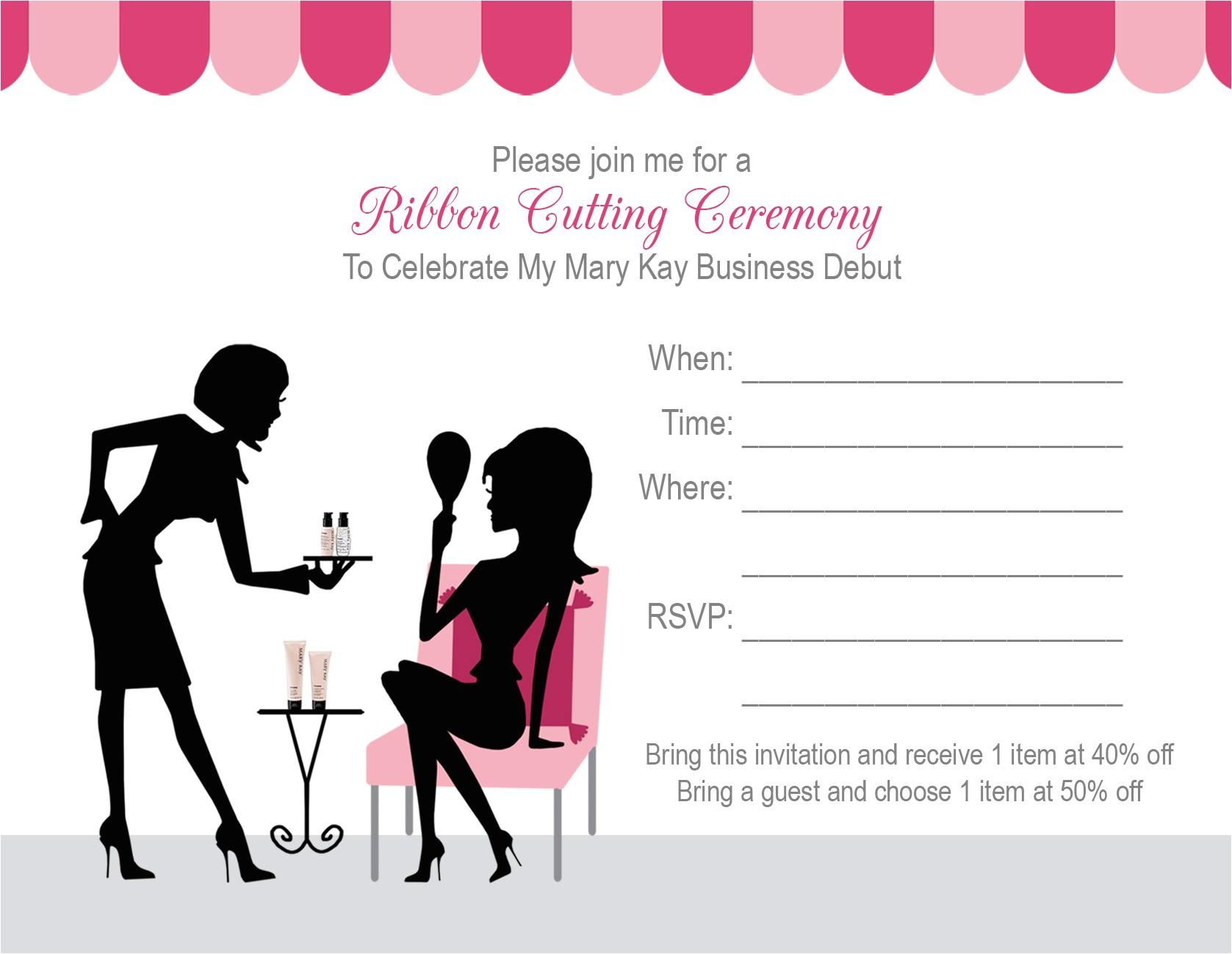 mary kay party invitation wording