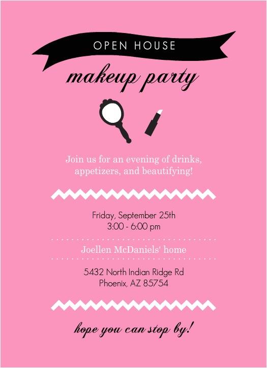 mary kay party invite