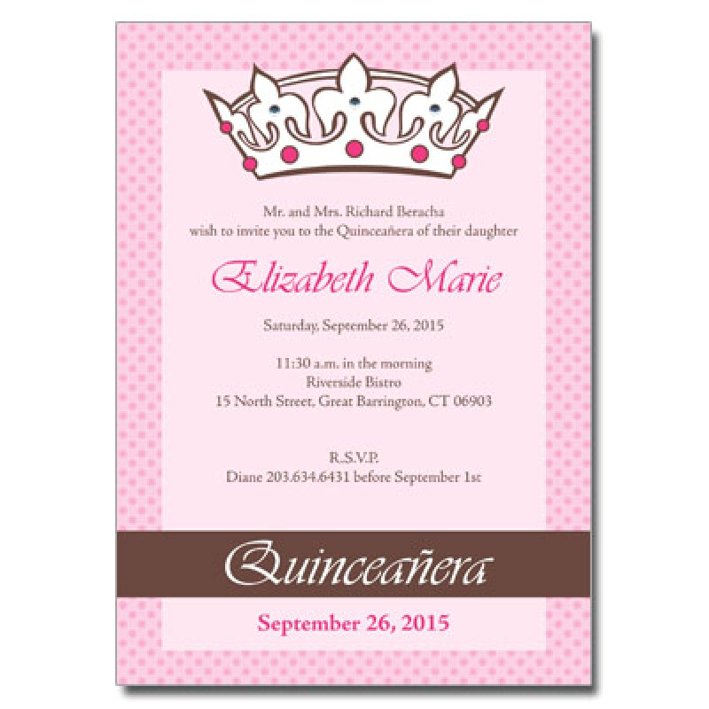 Wording for Quinceanera Invitations English Quince Invitation In English orderecigsjuice Info