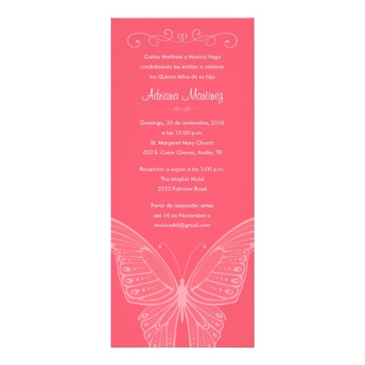 quinceanera invitation wording english