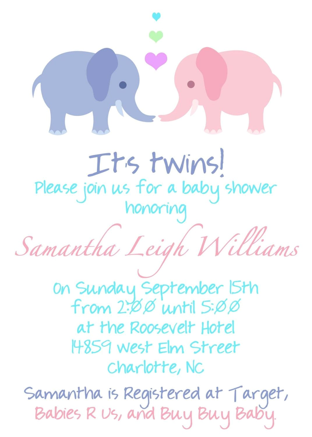 Wording for Twin Baby Shower Invitations Twin Pregnancy Announcement Wording