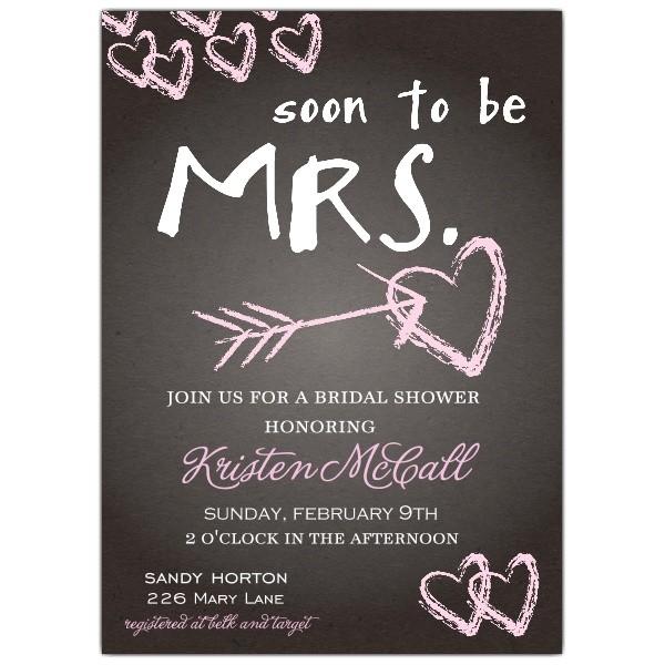 Chalkboard Love Bridal Shower Invitations p 639 57 WD81