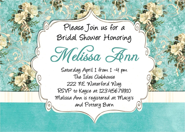 wording for work wedding shower invitation