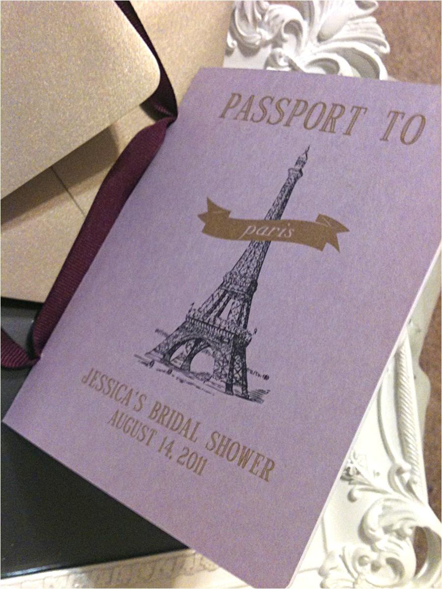 recent work passport bridal shower