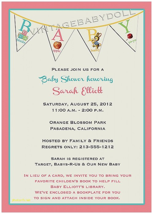 Write In Baby Shower Invitations Baby Shower Invitation Elegant What to Write In A Baby