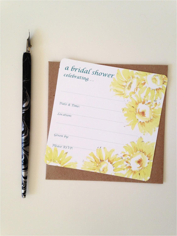 bridal shower invitation write in