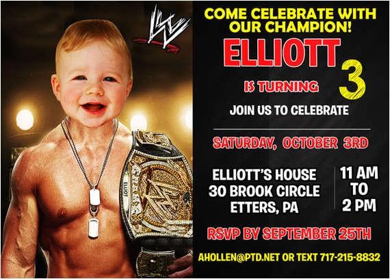 pbi wwe birthday invitation