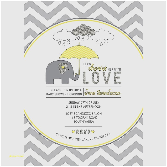 grey and yellow baby shower invites