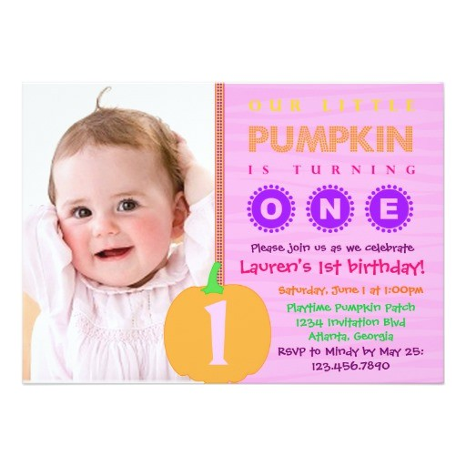 pumpkin first birthday invitation 161995002490384522