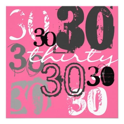"""Zazzle 30th Birthday Invitations 30th Birthday Party Invitations 5 25"""" Square Invitation"""