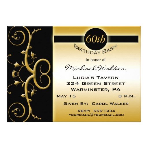 "Zazzle 60th Birthday Invitations 60th Birthday Party Invitations 5"" X 7"" Invitation Card"