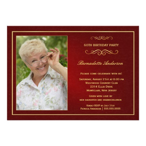 60th birthday party invitations add your photo