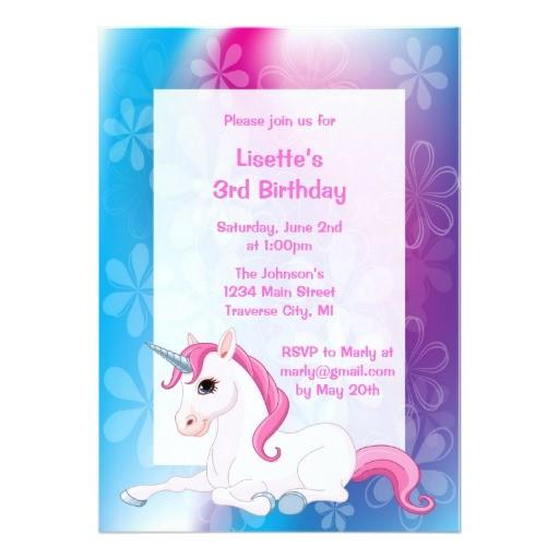 unicorn birthday party invitations