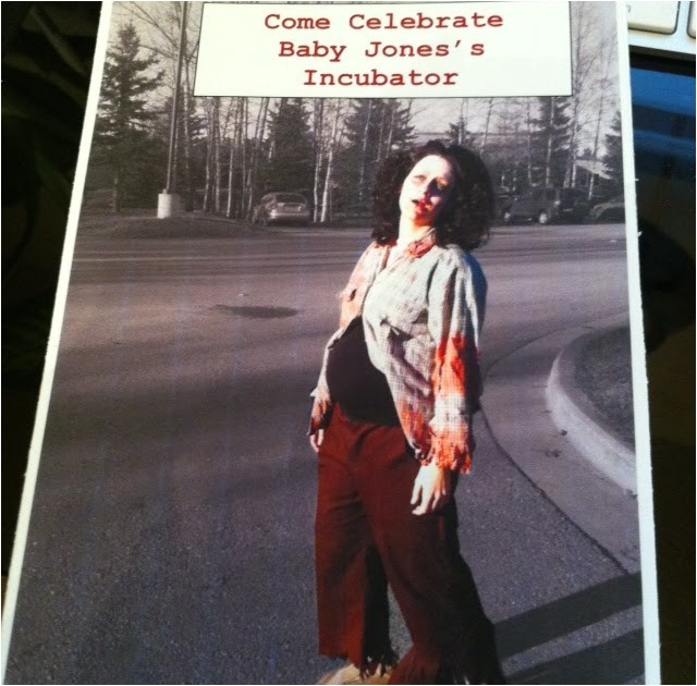 my zombie themed baby shower