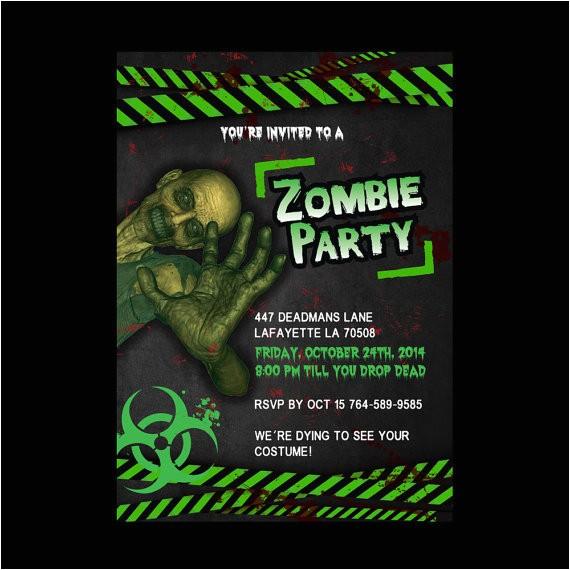 zombie birthday invitations