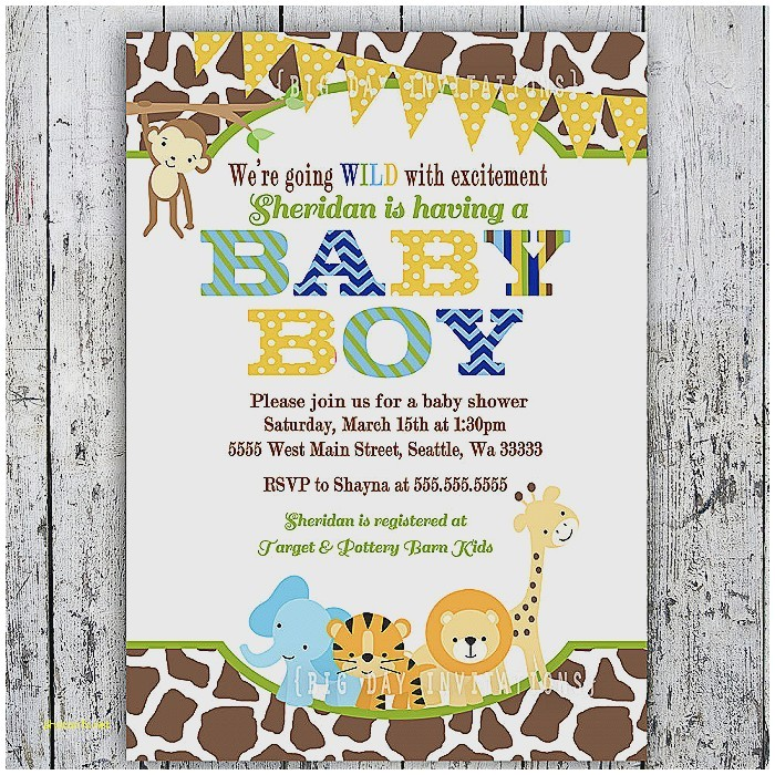 baby shower invitations zoo animal theme