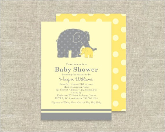 elephant baby shower invitations zoo