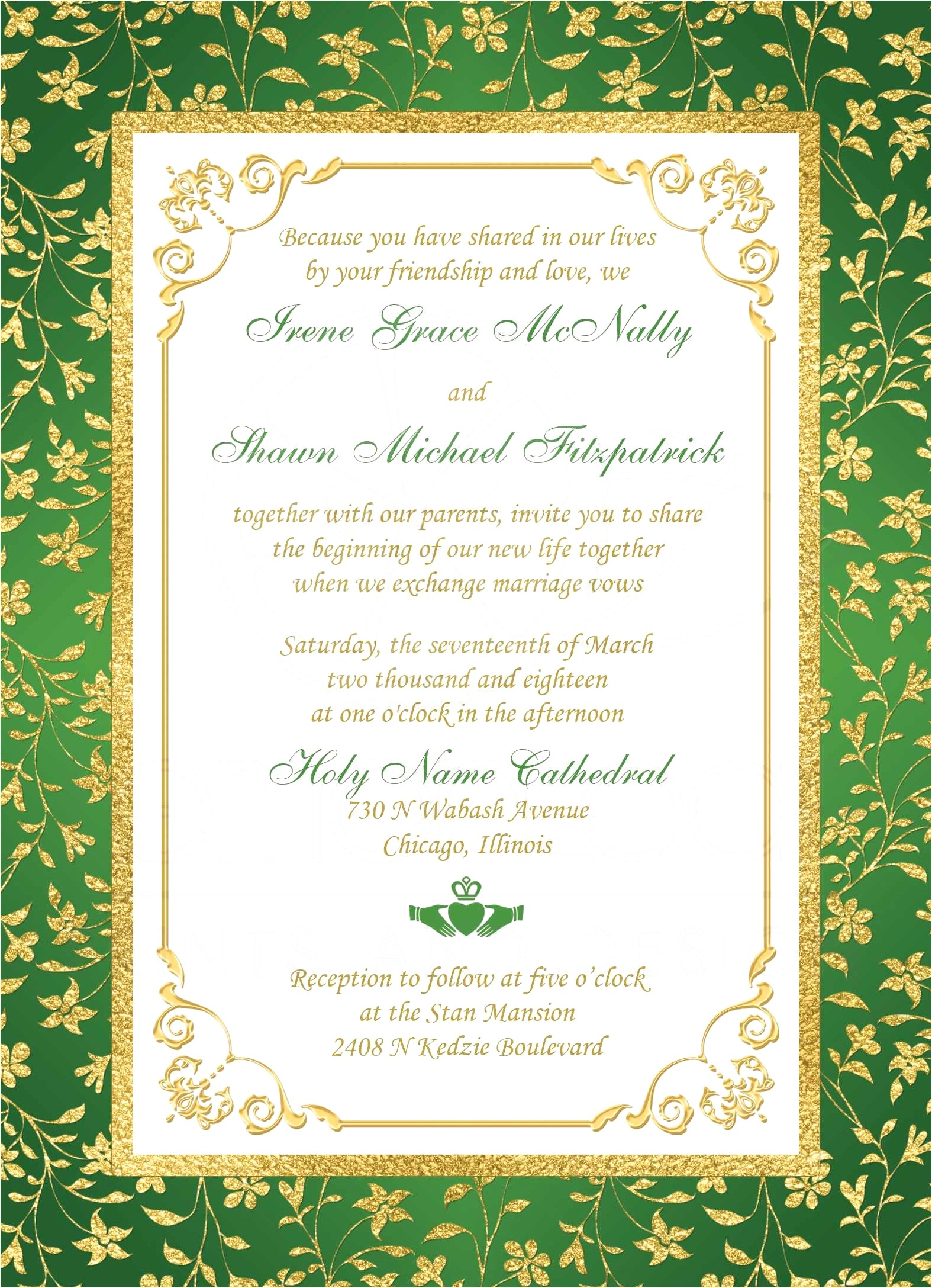 one page wedding invitation