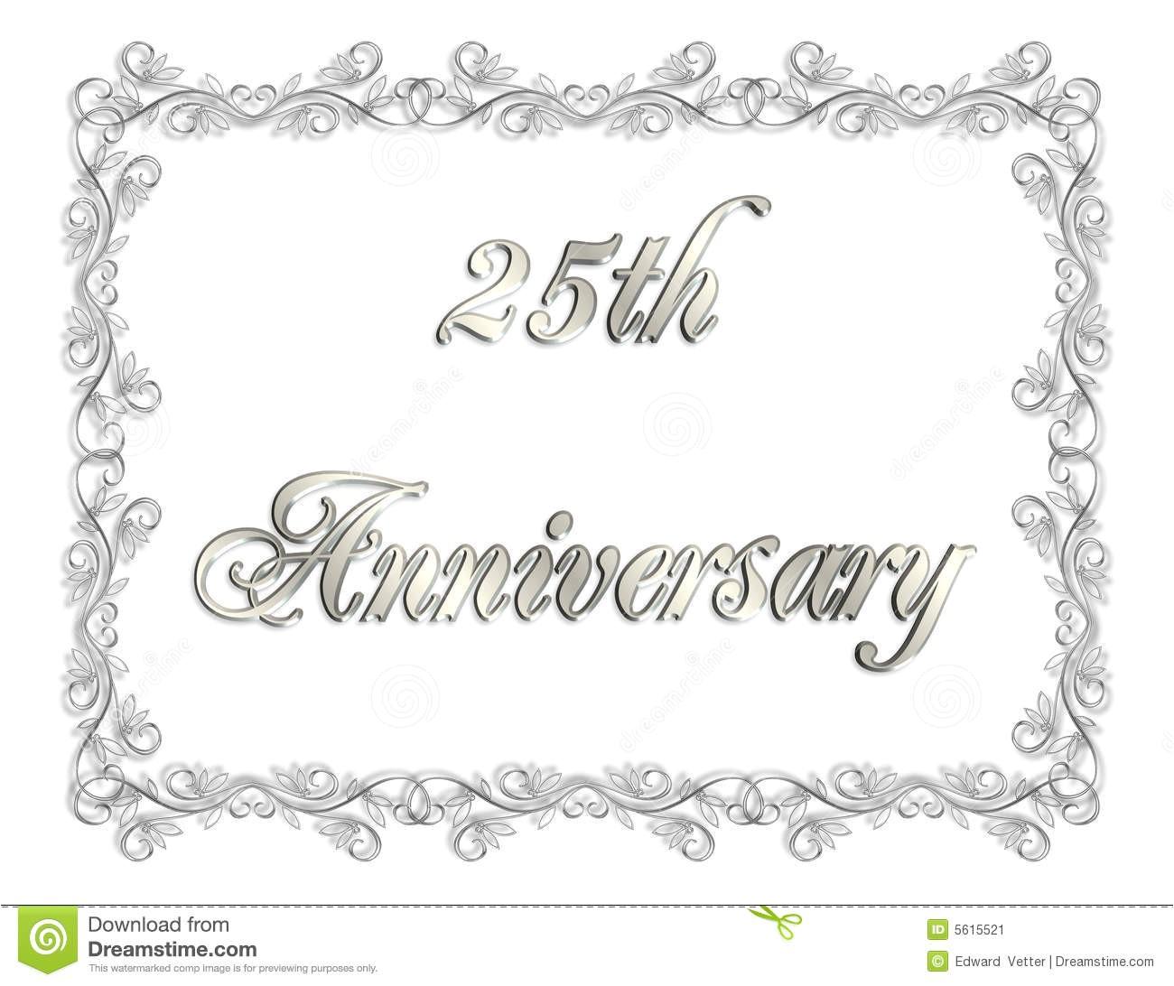 stock image 25th anniversary invitation 3d illustration image5615521