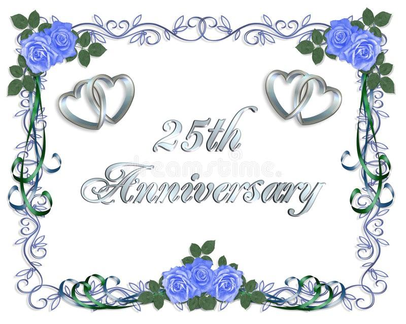 royalty free stock photos 25th wedding anniversary border invitation image7784898