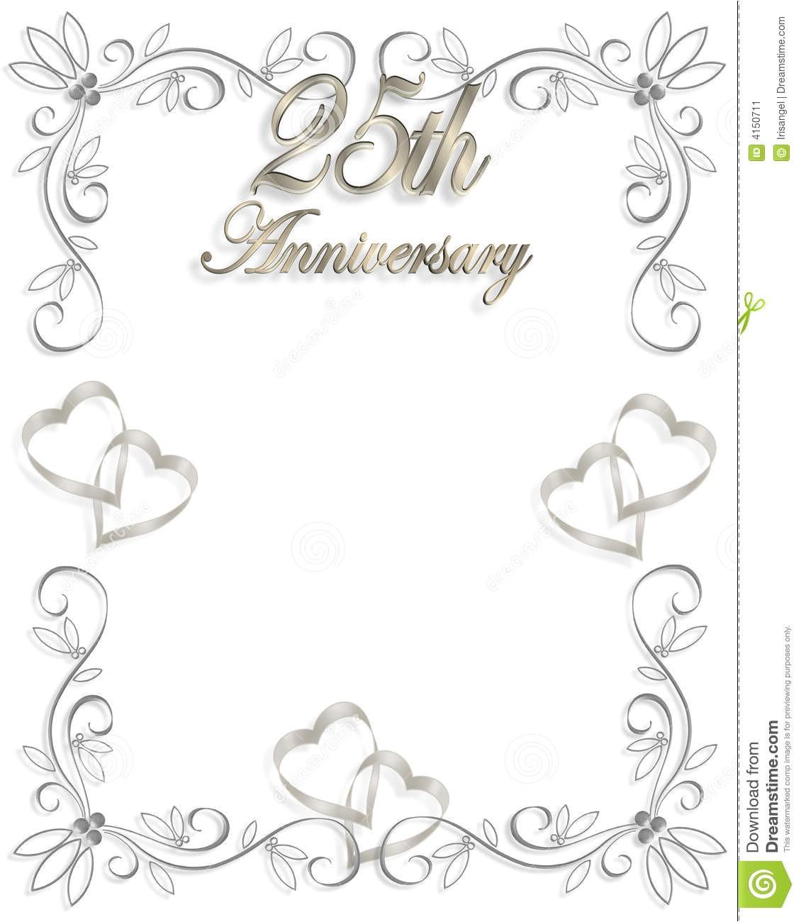 stock image 25th wedding anniversary invitation image4150711
