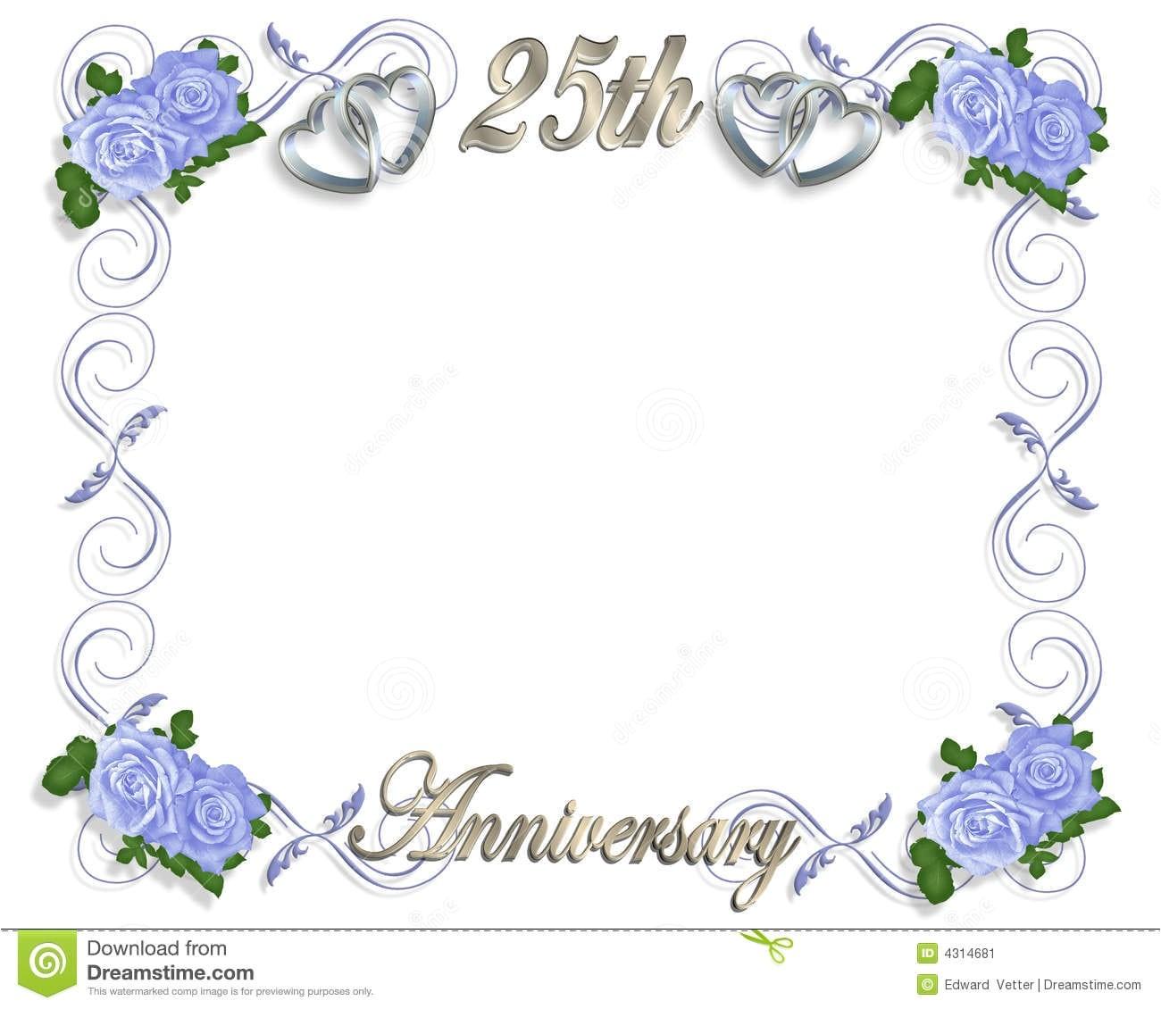 free wedding anniversary invitation template