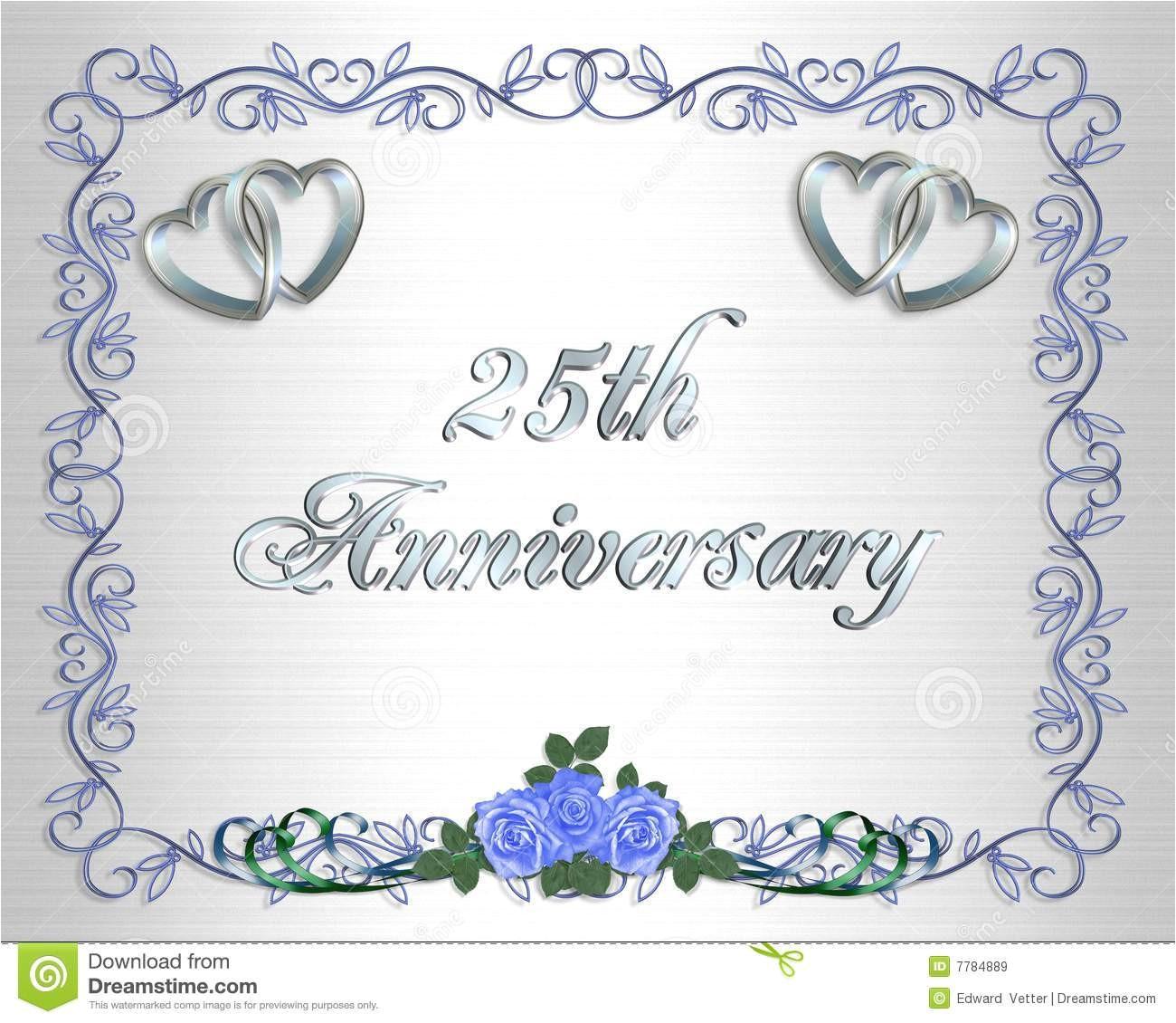 wedding anniversary invitation template free