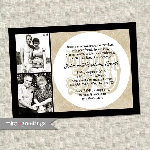 30th anniversary invitation pearl