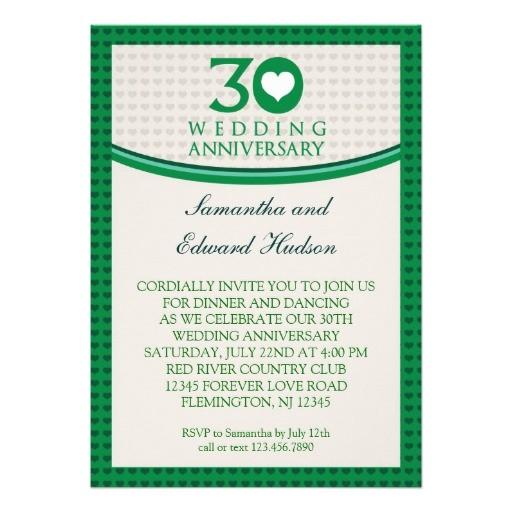 30th heart wedding anniversary invitation 161413903619637118