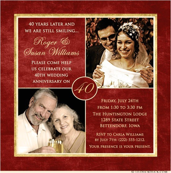 40 years of smiles photo invitation
