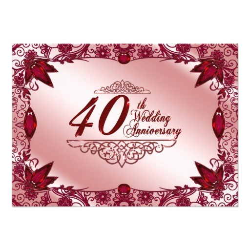 40th wedding anniversary invitation 161125607752875457