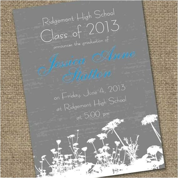 chalkboard grad announcement design 5x7