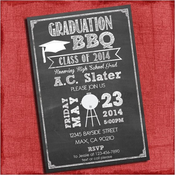 bbq graduation party invitation