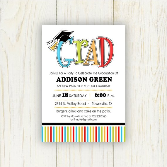 2016 graduation party invitation 5x7 or