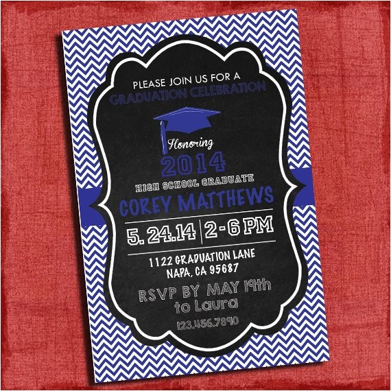 graduation party invitation chevron and