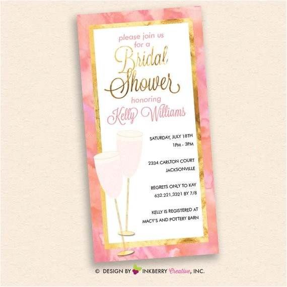 pink champagne pink gold bridal shower