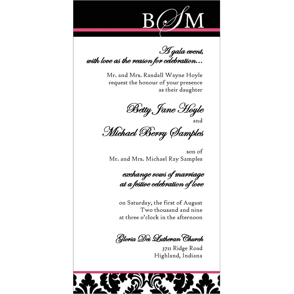 32084 signature bridal package 25 5x7 5x5 or 4x8 invitations