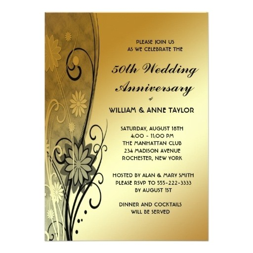 50th anniversary party invitations template