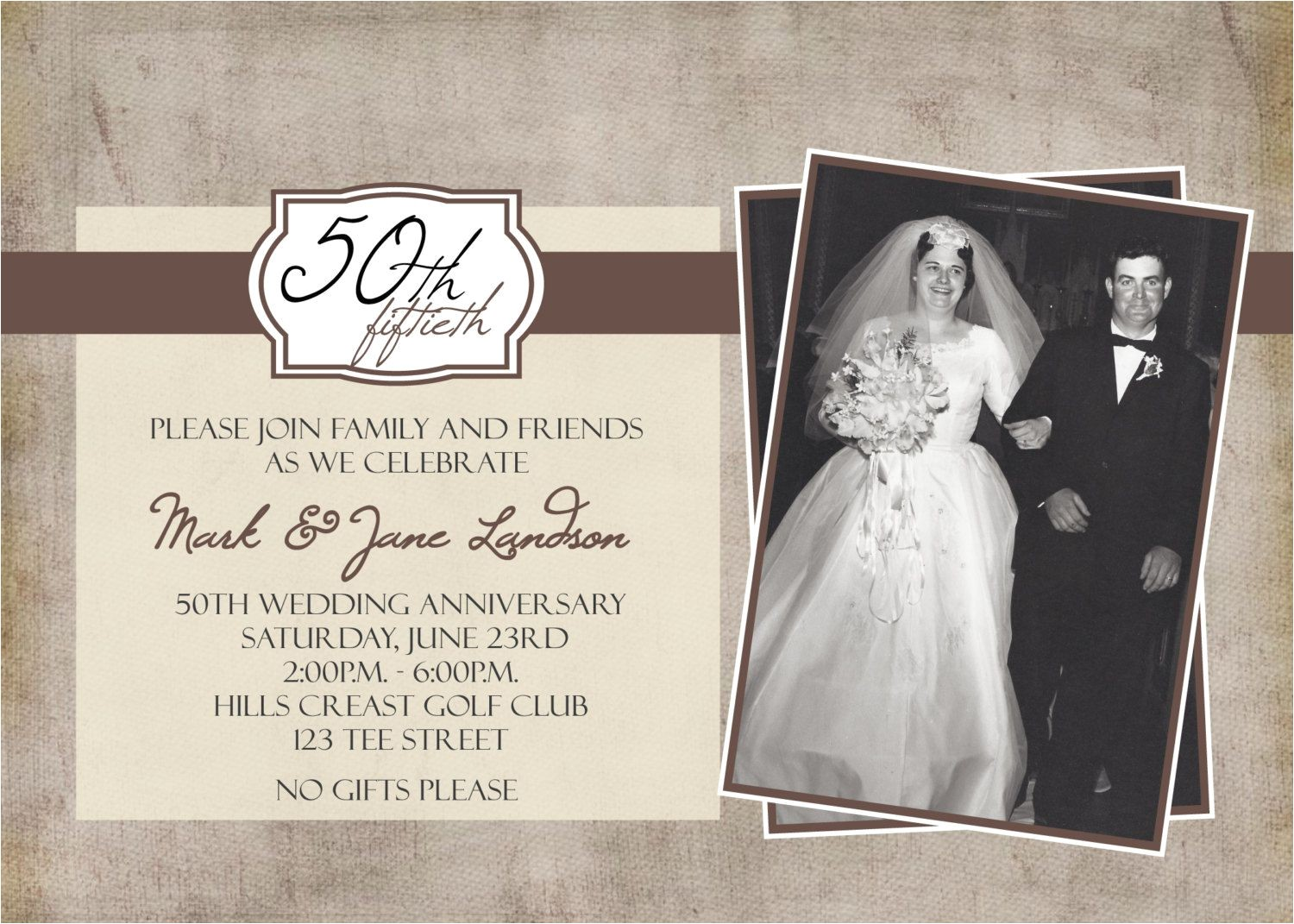 personalized wedding anniversary invitations