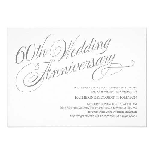 60th wedding anniversary invitations 161923748267812034