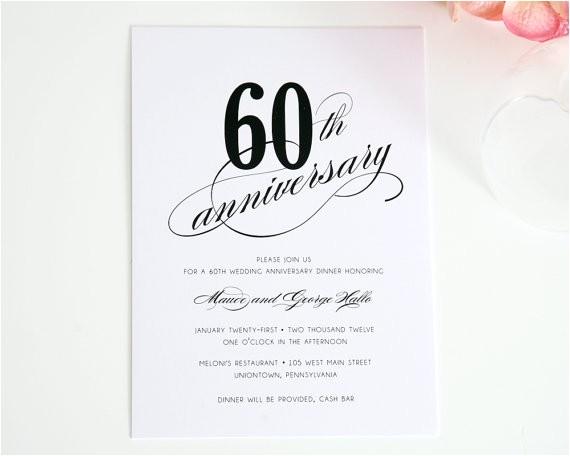 60th anniversary invitations template
